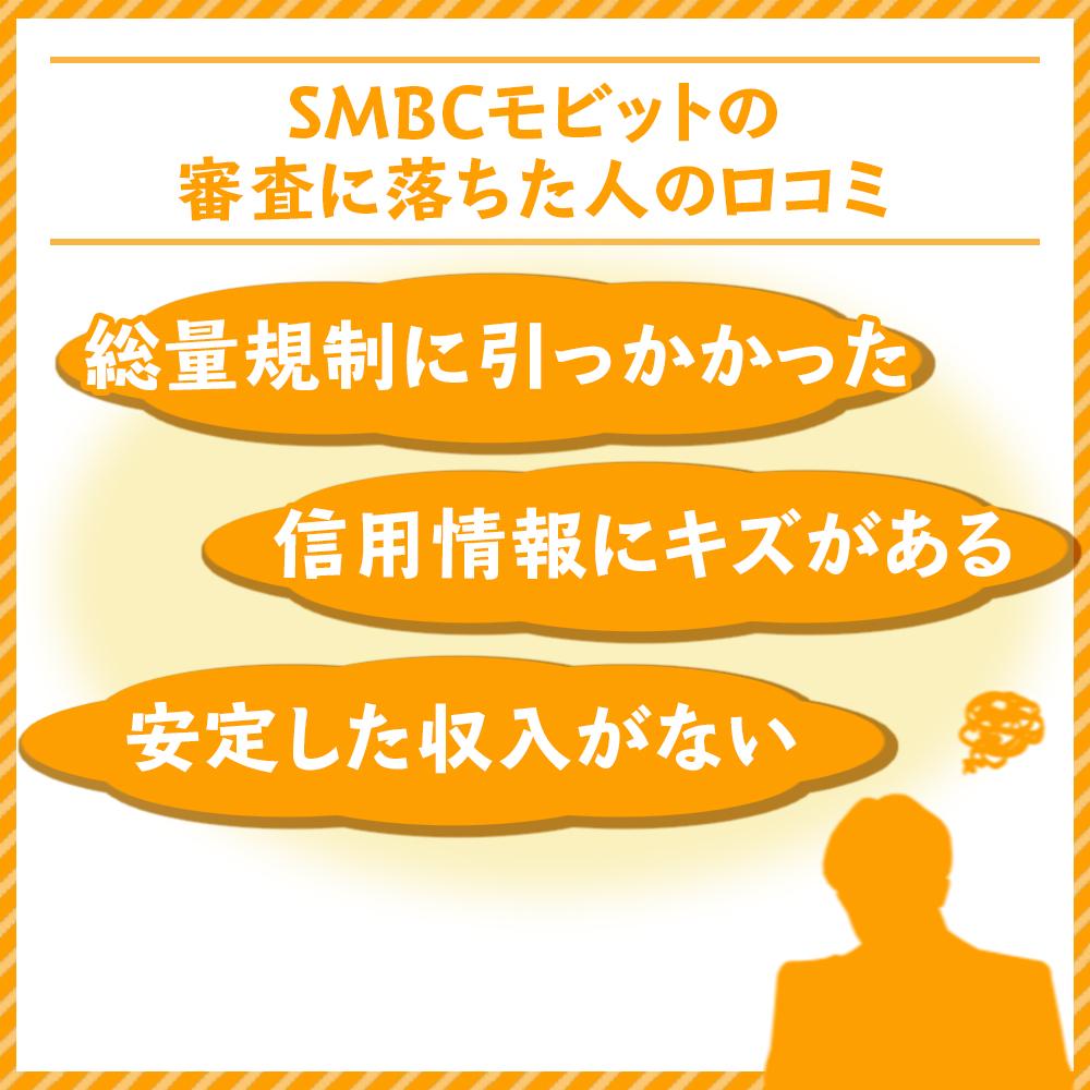 SMBCモビットの審査に落ちた人の口コミ