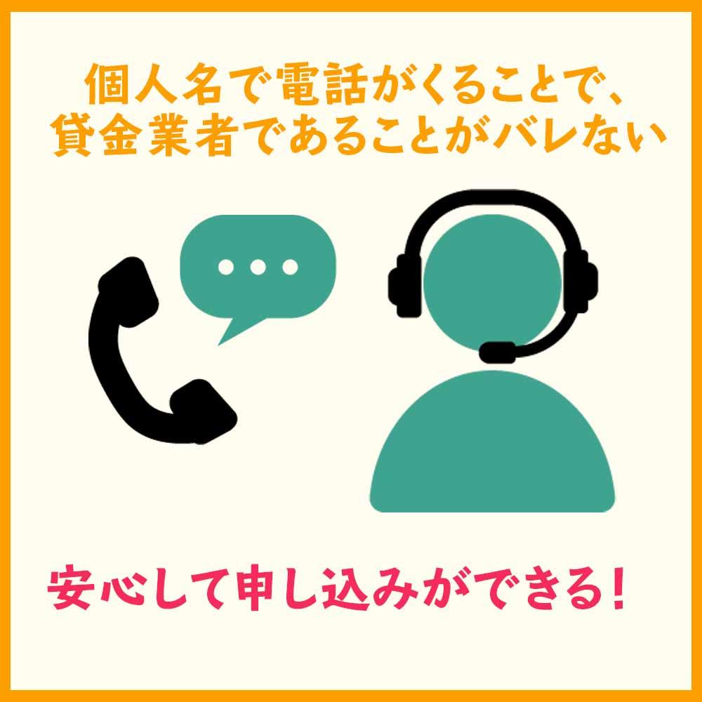 借り入れの際の電話は会社名でなく個人名でかけてくれる